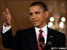 O presidente dos EUA, Barack Obama, durante coletiva de imprensa nesta terça-feira (Getty Images)