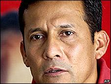 Ollanta Humala, líder del Partido Nacionalista peruano