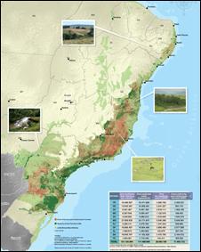 Áreas potenciais para restauração (fonte: Pacto pela restauração da Mata Atlântica)