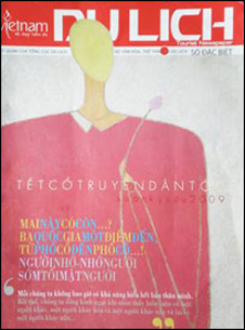 Bìa báo Du lịch ấn bản Xuân Kỷ Sửu