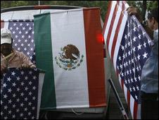 Banderas México-EE.UU.