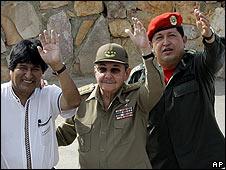 Morales, Chávez y Castro