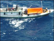 قایق حامل پناهجویان افغان به استرالیا