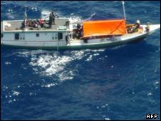 قایق حامل پناهجویان افغان