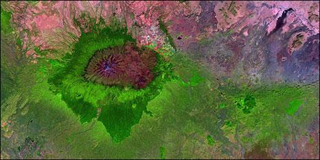 Monte Quênia (imagem: Unesco)