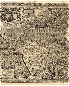 Mapa mostrando 'novo mundo'