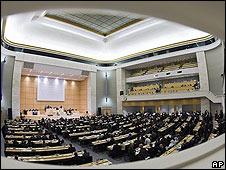 Asamblea de la ONU en Ginebra.