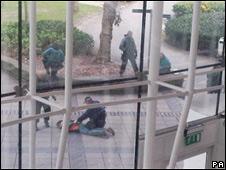 Арест одного из подозреваемых в университете