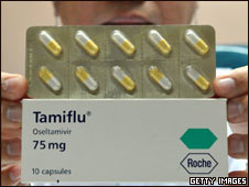 Tamiflu, medicina usada contra el virus