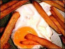 سیب زمینی و تخم مرغ سرخ شده