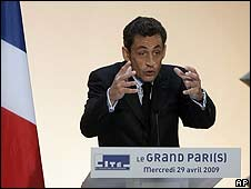 Nicolas Sarkozy presenta el plan para el Gran París