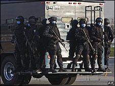 Policía Federal en Ciudad de México el 29 de abril.