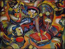 Một bức họa ca trù (daigiang website)