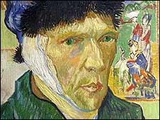Autorretrato de Van Gogh con oreja vendada (Der. Res: Instituto Courtauld