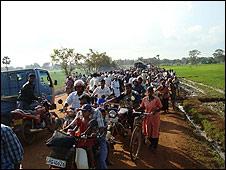 Desplazados del conflicto en Sri Lanka