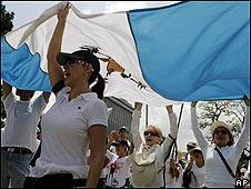Protestas en Guatemala en contra de Álvaro Colom