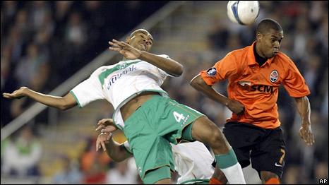 Во время финального матча Кубка УЕФА