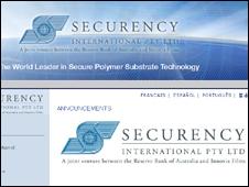 Công ty Securency trụ sở tại Melbourne hiện có hợp đồng in tiền cho 26 quốc gia