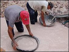 Fotos de la mina venezolana de diamantes El Polaco. Anahí Aradas.