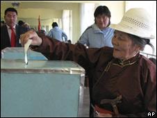 Đầu phiếu tại Mông Cổ