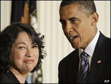 Sonia Sotomayor, nominada como jueza de la Corte Suprema de EE.UU.
