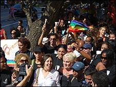 Marcha gay en La Habana.