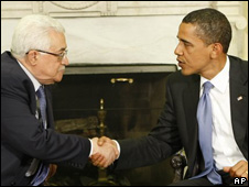 Mahmoud Abbas y Barack Obama