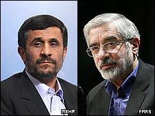 میرحسین موسوی و محمود احمدی نژاد
