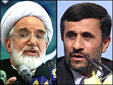 محمود احمدی نژاد و مهدی کروبی