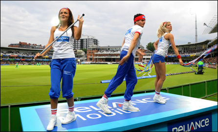 Dancers at Lord's Cricket Ground