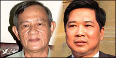 Hai ông Phạm Vĩnh Thái (bên trái) và Cù Huy Hà Vũ