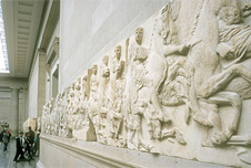 Elgin Marbles on display at the British Museum