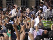 موسوی در تظاهرات دوشنبه