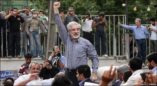 Candidato reformista Mir Hossein Mousavi