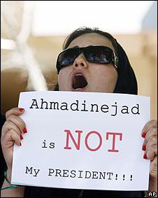 Protesta de seguidores de Mousavi