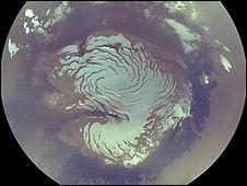 Hielo de Marte (foto de la NASA)