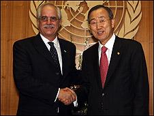 Jorge Taiana y Ban Ki-Moon