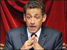 O presidente francês Nicolas Sarkozy
