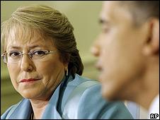 Michelle Bachelet y Barack Obama, en la Casa Blanca.