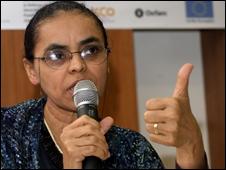 A senadora Marina Silva (Foto: Janine Moraes/ABr, 11/11/2008)