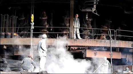 Một nhà máy sản xuất thép của Trung Quốc