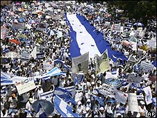Manifestación en San Pedro Sula
