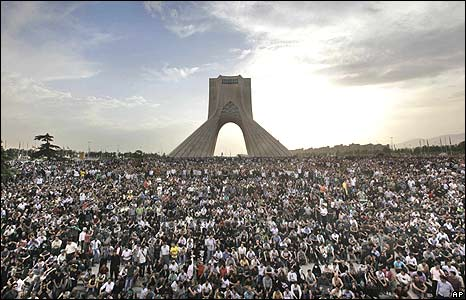 Azadi, the freedom monument in Tehran