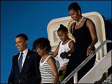 Llegada de la familia Obama a Ghana