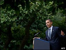 Barack Obama, en el jardín de la Casa Blanca.