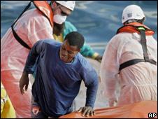 Inmigrante africano en las Islas Canarias