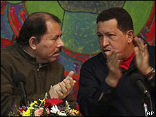 Daniel Ortega y Hugo Chávez