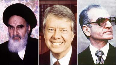 Ayatollah Khomeini, Jimmy Carter and the Shah of Iran