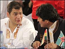 Rafael Correa e Evo Morales