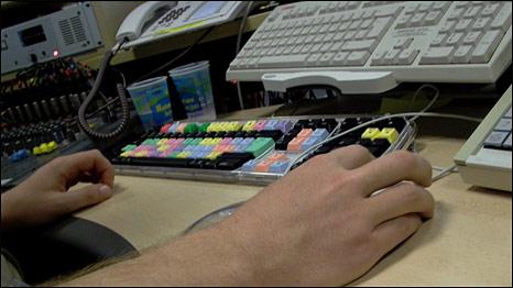 Klavye, fare ve bir kullanıcı